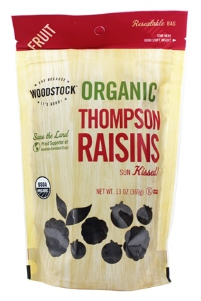 Woodstock Farms - Organic Thompson Raisins - 13 oz.