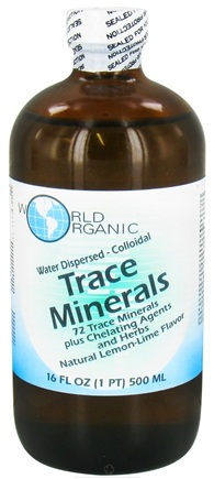 DROPPED: World Organic - Trace Minerals Water Dispersed Colloidal Lemon-Lime - 16 oz.