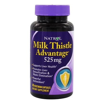 Natrol - Milk Thistle Advantage 525 mg. - 60 Vegetarian Capsules