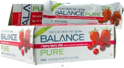 DROPPED: Balance - Fruit & Nut Energy Bar Pure Berry Berry Chia - 1.58 oz.