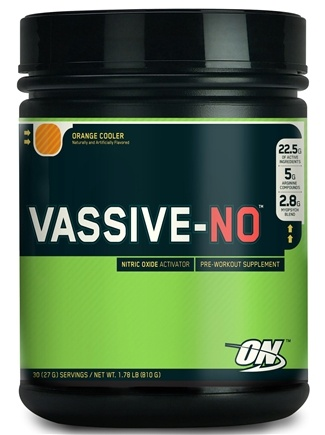 DROPPED: Optimum Nutrition - Vassive-NO Orange Cooler - 1.78 lbs.