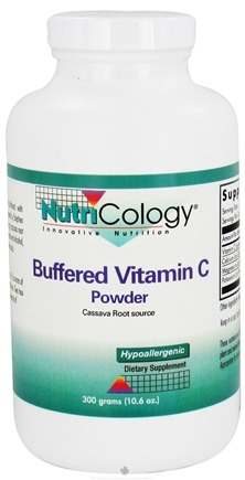 DROPPED: Nutricology - Buffered Vitamin C Powder Cassava Source - 300 Grams