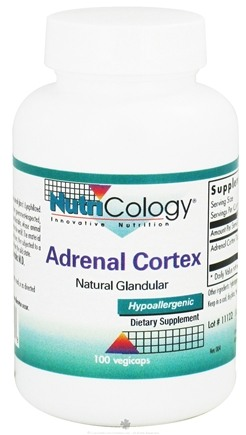 DROPPED: Nutricology - Adrenal Cortex Natural Glandular - 100 Vegetarian Capsules CLEARANCE PRICED