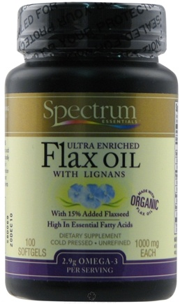 DROPPED: Spectrum Essentials - Ultra Enriched Flax Oil with Lignans 1000 mg. - 100 Softgels CLEARANCE PRICED