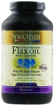 DROPPED: Spectrum Essentials - Ultra Enriched Flax Oil with Lignans 1000 mg. - 250 Softgels