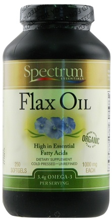 DROPPED: Spectrum Essentials - Flax Oil 1000 mg. - 250 Softgels