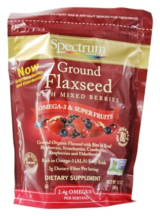 Spectrum Essentials - Ground Premium Flaxseed with Mixed Berries - 12 oz.
