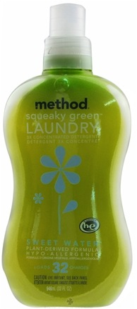 DROPPED: Method - Squeaky Green Laundry Detergent Sweet Water - 32 oz. CLEARANCE PRICED