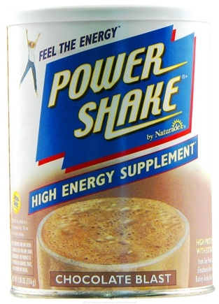 DROPPED: Naturade - Power Shake High Energy Supplement Chocolate Blast - 11.58 oz.