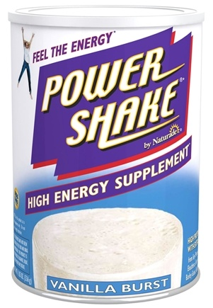 DROPPED: Naturade - Power Shake High Energy Supplement Vanilla Burst - 11.85 oz.