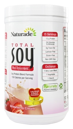 Naturade - Total Soy Meal Replacement Strawberry Creme - 17.9 oz.
