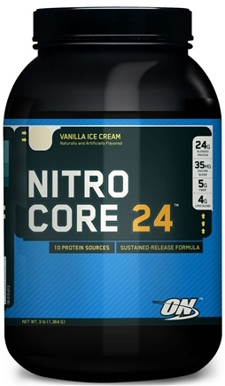 DROPPED: Optimum Nutrition - NitroCore 24 Vanilla Ice Cream - 3 lbs. CLEARANCE PRICED