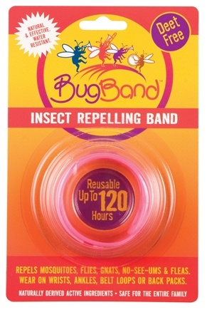 DROPPED: Bug Band - Deet Free Insect Repelling Band Pink - 1 Band(s) CLEARANCE PRICED