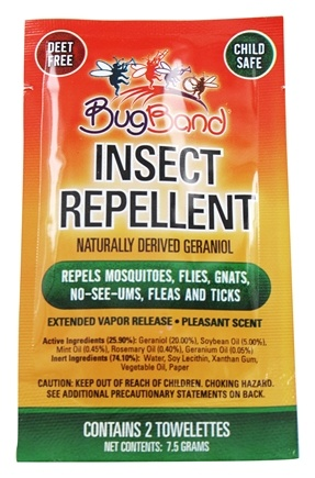 Bug Band - Insect Repelling Towelette - 2 Towelette(s)