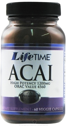 DROPPED: LifeTime Vitamins - Acai High Potency 1200 mg. - 60 Vegetarian Capsules CLEARANCE PRICED