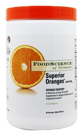 FoodScience of Vermont - Superior Oranges with CoQ10 Fatigue Fighter - 300 Grams (10.58 oz.)
