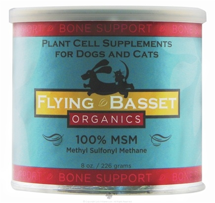 DROPPED: Flying Basset Organics - Bone Support 100% MSM Methyl Sulfonyl Methane - 8 oz.