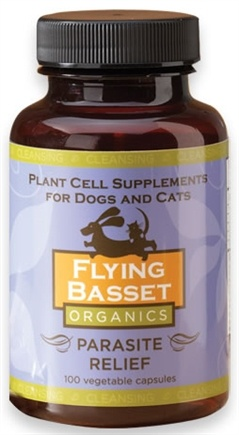 DROPPED: Flying Basset Organics - Cleansing Parasite Relief - 100 Vegetarian Capsules