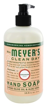 Mrs. Meyer's - Clean Day Liquid Hand Soap Geranium - 12.5 oz.