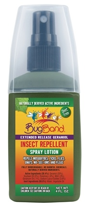 DROPPED: Bug Band - Insect Repellent Extended Release Geraniol Spray Lotion - 4 oz.