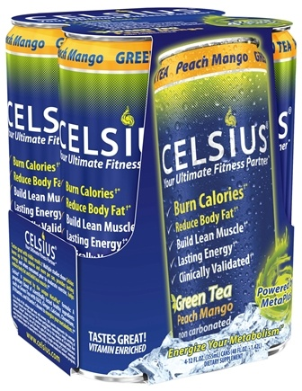 DROPPED: Celsius - Celsius Your Ultimate Fitness Partner Peach Mango - 4 Pack(s) Formerly Original Calorie Burner