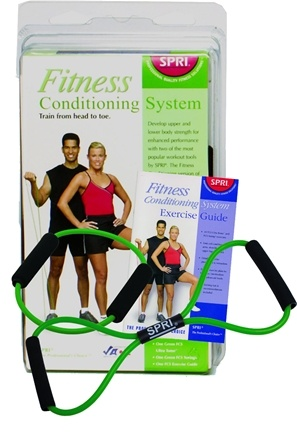 DROPPED: SPRI - Fitness Conditioning System with Exercise Guide Green- Light Resistance - CLEARANCE PRICED
