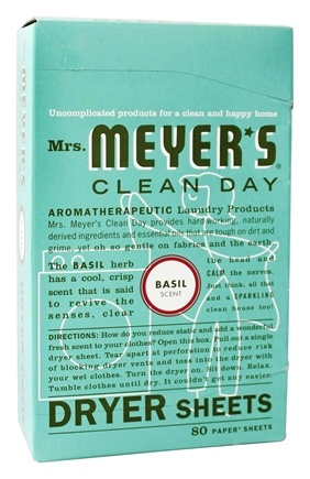 Mrs. Meyer's - Clean Day Dryer Sheets Basil - 80 Sheet(s)