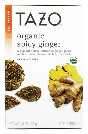 Tazo - Herbal Tea Caffeine Free Organic Spicy Ginger - 20 Tea Bags