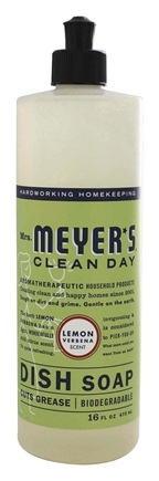 Mrs. Meyer's - Clean Day Liquid Dish Soap Lemon Verbena - 16 oz.