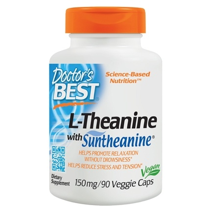 Doctor's Best - Suntheanine L-Theanine 150 mg. - 90 Vegetarian Capsules