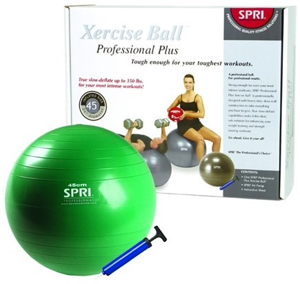 DROPPED: SPRI - Xercise Ball Professional Plus - 45cm Ball with Pump - 1 Ball(s) CLEARANCE PRICED