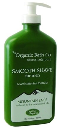 DROPPED: Organic Bath Company - Smooth Shave For Men Mountain Sage - 14.2 oz.