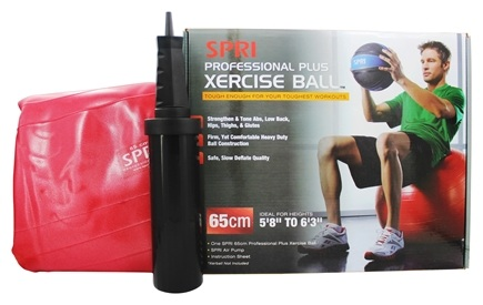 DROPPED: SPRI - Xercise Ball Professional Plus - 65cm Ball with Pump - 1 Ball(s)