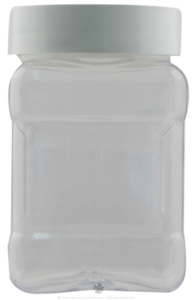 DROPPED: Frontier Natural Products - Clear Plastic Spice Jar with White Plastic Cap - 11 oz.