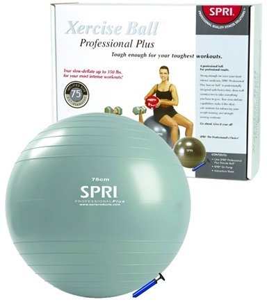 DROPPED: SPRI - Xercise Ball Professional Plus -75 cm Ball with Pump - 1 Ball(s)