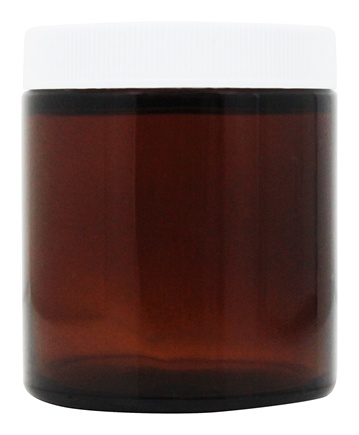 Frontier Natural Products - Amber Wide Mouth Jar With White Plastic Cap - 4 oz.