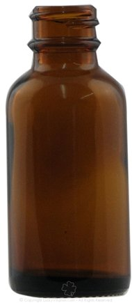 DROPPED: Frontier Natural Products - Amber Glass Round Bottle - 1 oz. CLEARANCE PRICED