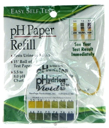 DROPPED: New Page Productions - Easy Self Home Test pH Paper Refill - CLEARANCE PRICED