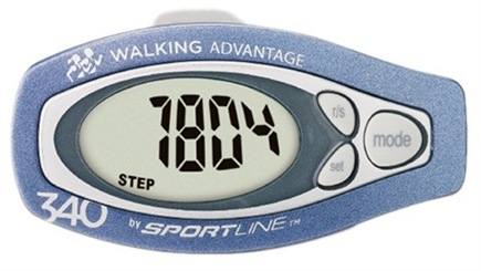 DROPPED: Sportline - 340 Step and Distance Pedometer with Classic Pendulum Technology Blue - 1 Monitor(s) CLEARANCE PRICED