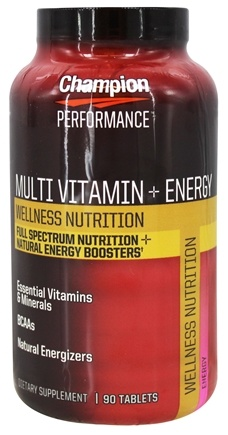 DROPPED: Champion Performance - Wellness Nutrition Multi Vitamin + Energy - 90 Tablets