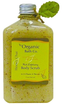 DROPPED: Organic Bath Company - Rich Exfoliating Body Scrub Honey Chai CLEARANCE PRICED - 9 oz.