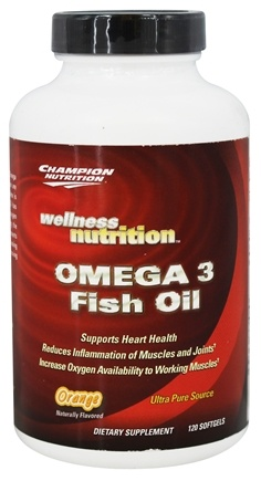 Champion Performance - Wellness Nutrition Omega-3 Fish Oil Orange - 120 Softgels