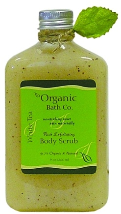 DROPPED: Organic Bath Company - Rich Exfoliating Body Scrub White Tea CLEARANCE PRICED - 9 oz.