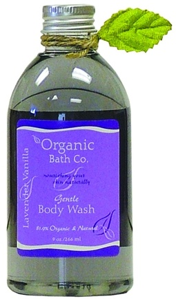 DROPPED: Organic Bath Company - Gentle Body Wash Lavender Vanilla CLEARANCE PRICED - 9 oz.
