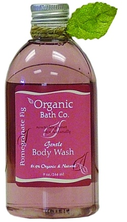 DROPPED: Organic Bath Company - Gentle Body Wash Pomegranate Fig CLEARANCE PRICED - 9 oz.