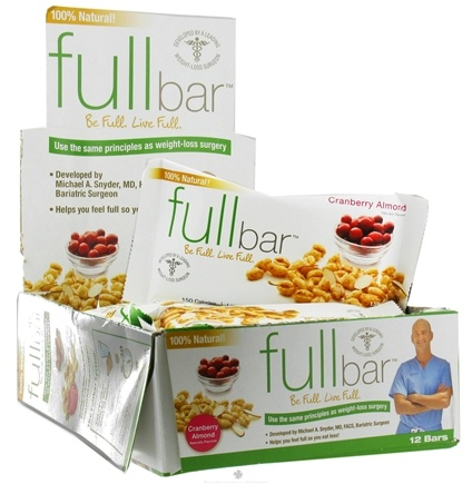 DROPPED: Full Bar - Weight Loss Bar Cranberry Almond - 1.59 oz. CLEARANCE PRICED