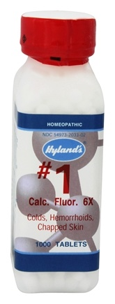 Hylands - Cell Salts #1 Calcarea Fluorica 6 X - 1000 Tablets