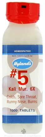 DROPPED: Hylands - #5 Kali Muriaticum 6 X - 1000 Tablets