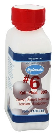 Hylands - Cell Salts #6 Kali Phosphoricum 30 X - 1000 Tablets