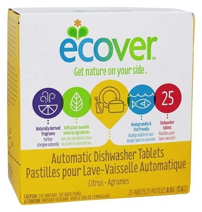 Ecover - Automatic Dishwasher Tablets 25 Loads Citrus - 17.6 oz.